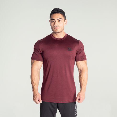 Better Bodies Essex Stripe T-Shirt - Maroon