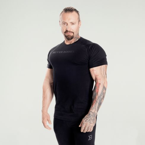 Better Bodies Gym Tapered Tee - Black