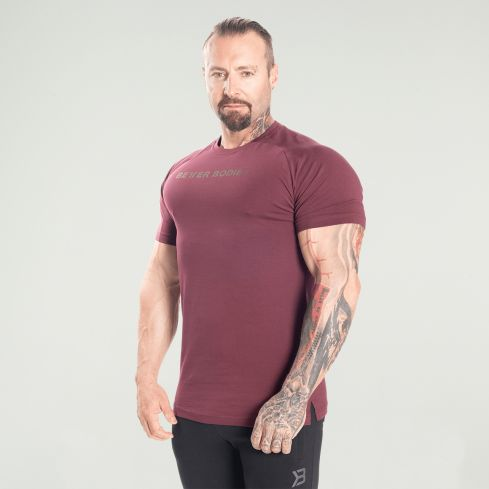 Better Bodies Gym Tapered Tee - Maroon