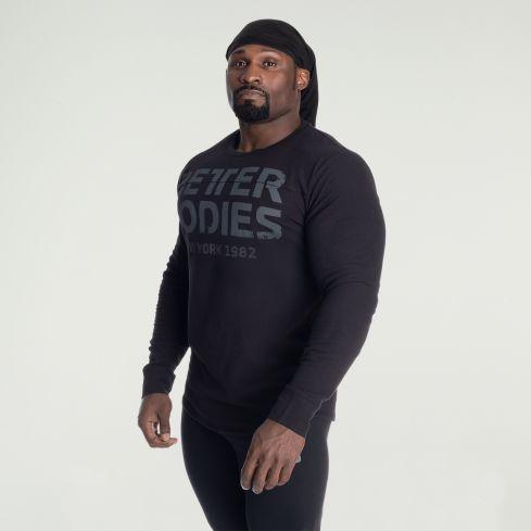 Better Bodies Yoke Thermal Long Sleeve - Black