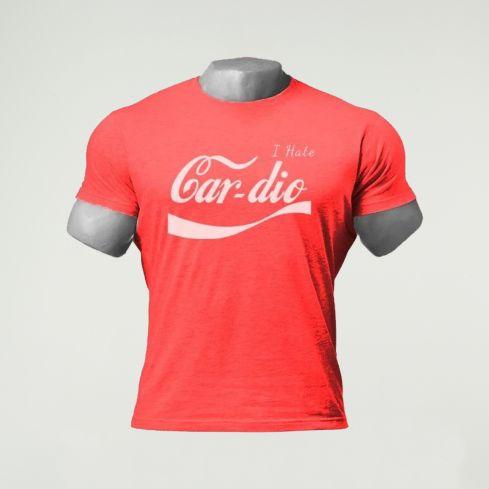Dreadlift 'I Hate Cardio' T-Shirt - Red