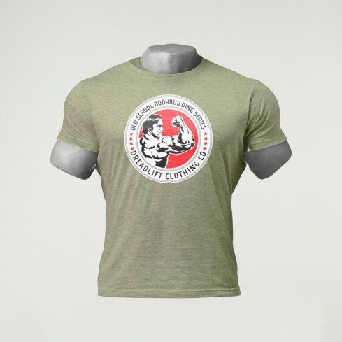 Dreadlift Oldschool Bodybuilding T-Shirt - Army