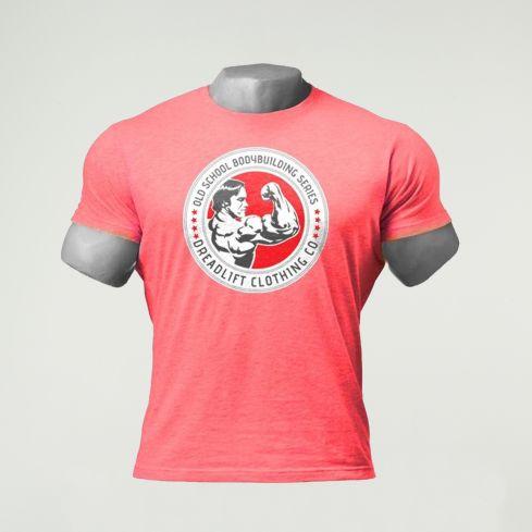 Dreadlift Oldschool Bodybuilding T-Shirt - Red