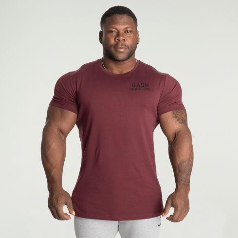GASP 89 Classic Tapered T-Shirt - Maroon