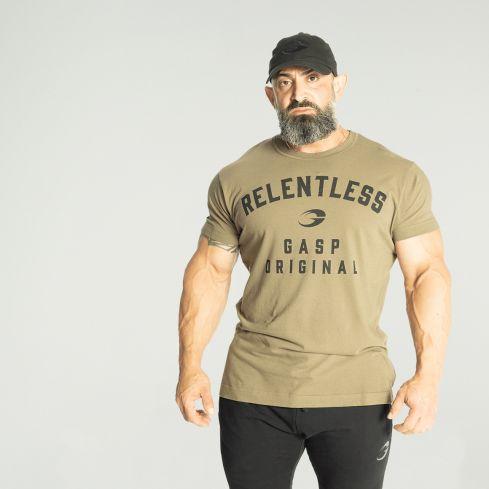 GASP Relentless Skull T-Shirt - Washed Green