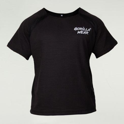 Gorilla Wear Augustine Old School Bodybuilding Top – Black 1
