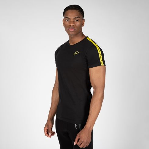 Gorilla Wear Chester T-Shirt - Black/Yellow
