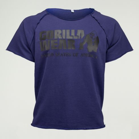 Gorilla Wear Classic Rag Top – Navy 1