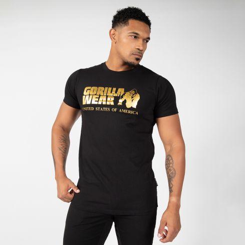 Gorilla Wear Classic T-Shirt - Black/Gold