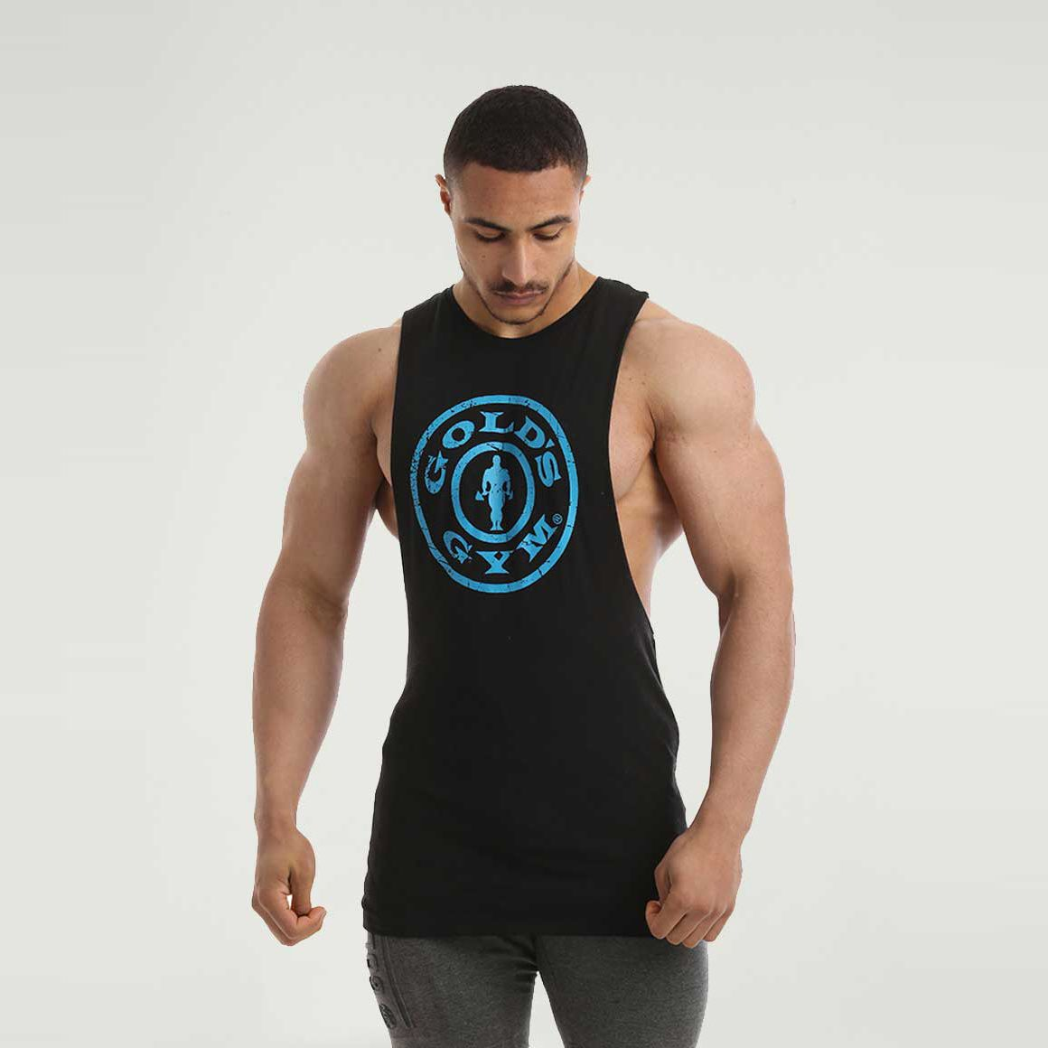 Men/'s New Gold/'s Gym Singlet Active Wear Tank Top OZ Seller